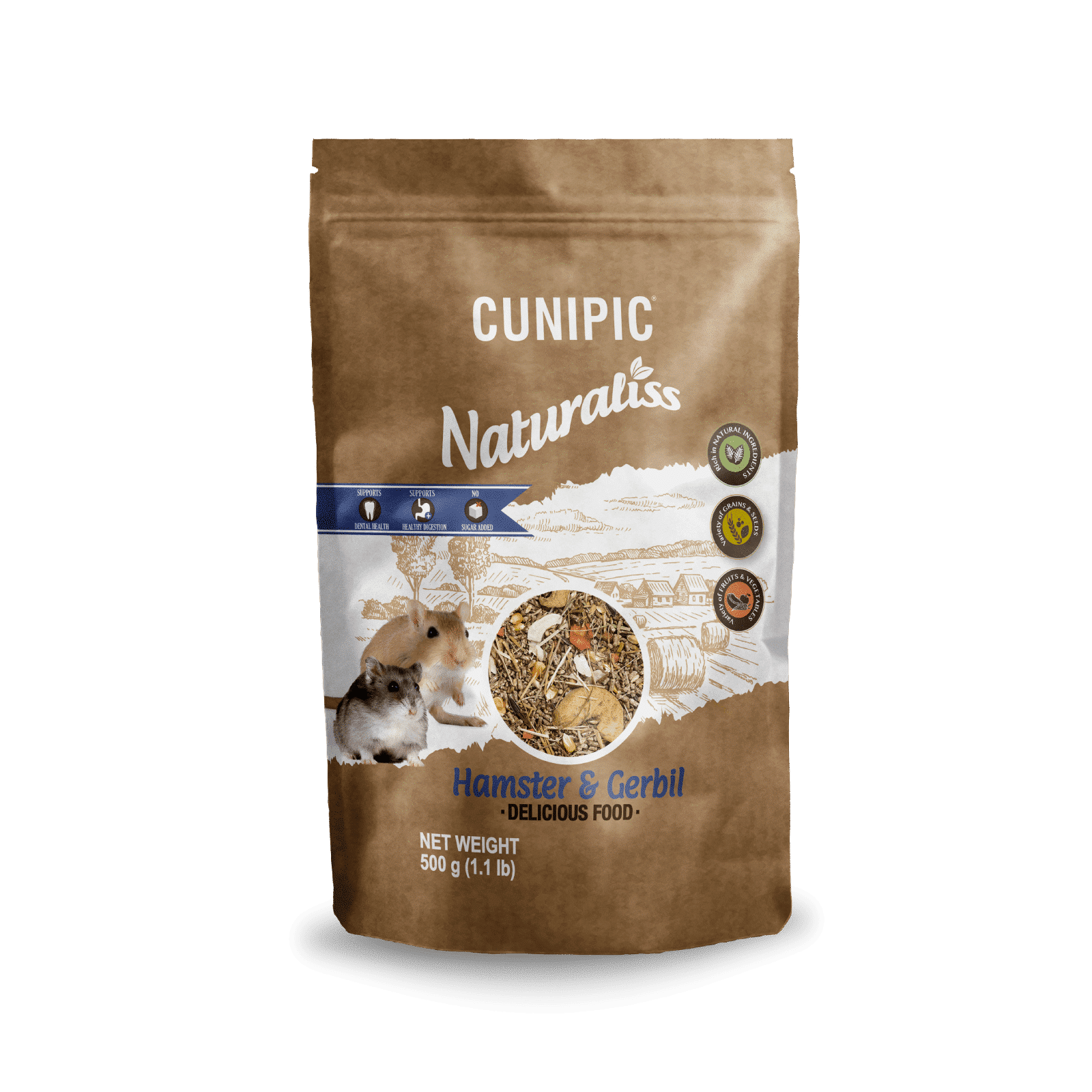 Naturaliss Hámster & Jerbo 500 g Cunipic