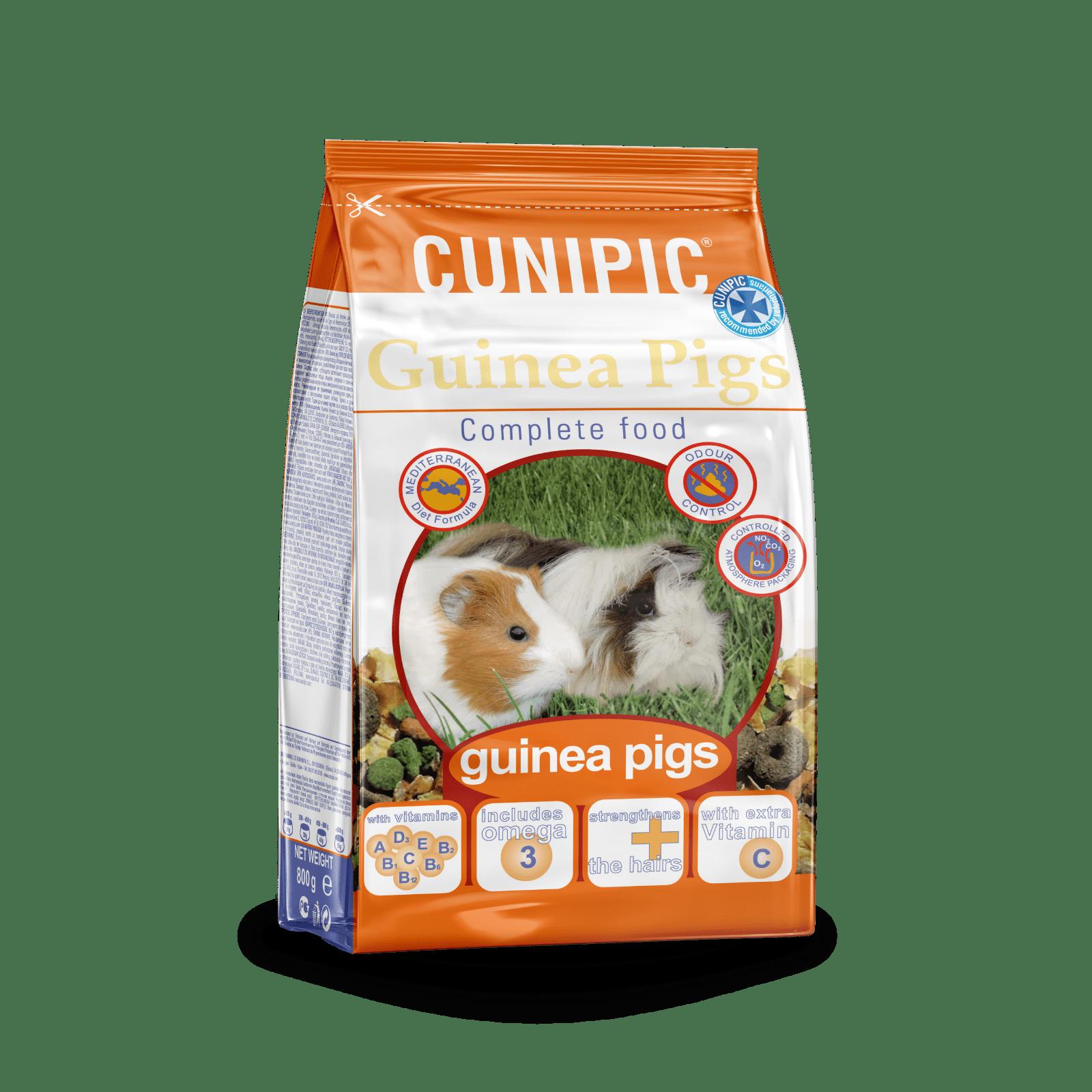 Alimentación Súper Premium para Cobayas Cunipic