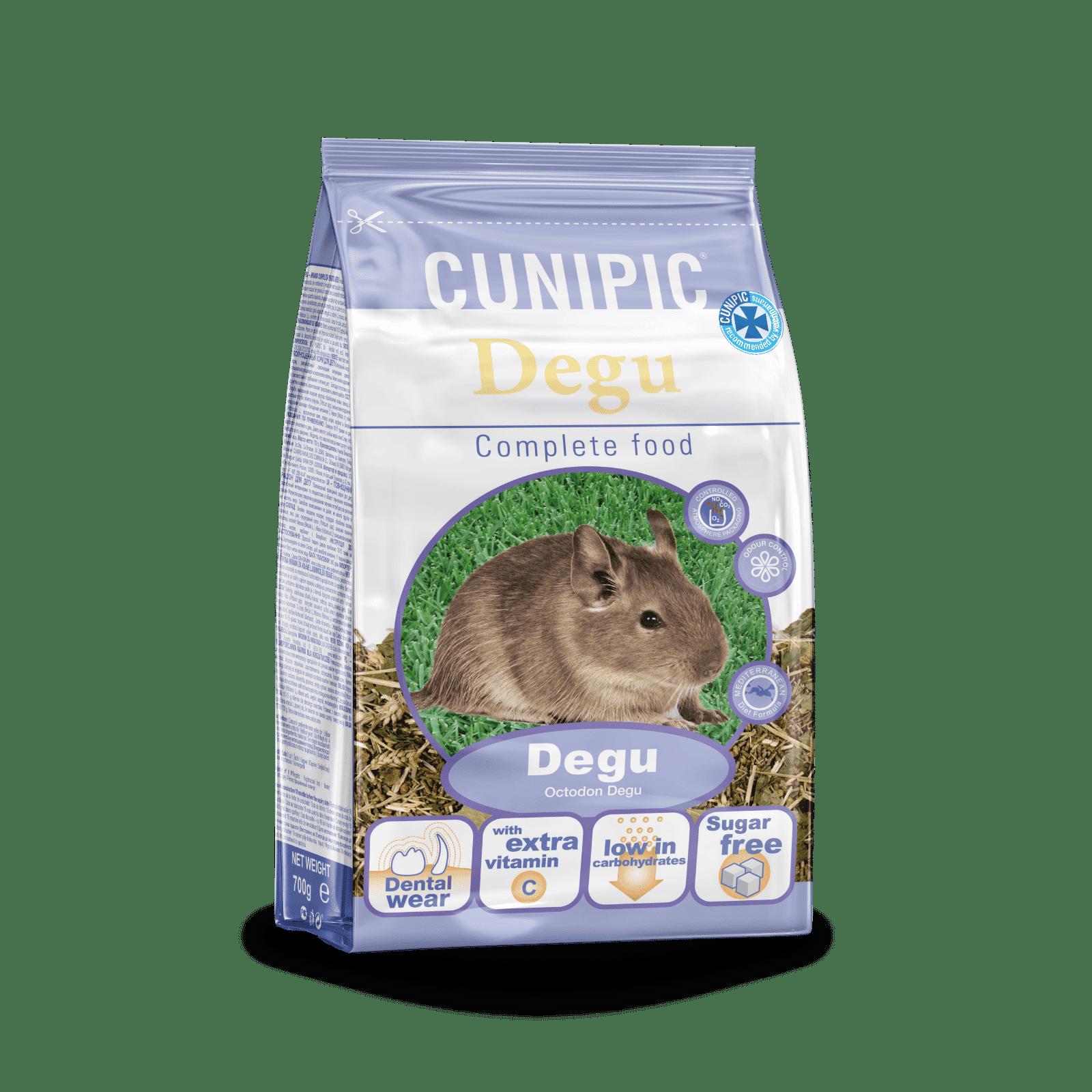 Alimentación Súper Premium para Degúes 700 g Cunipic