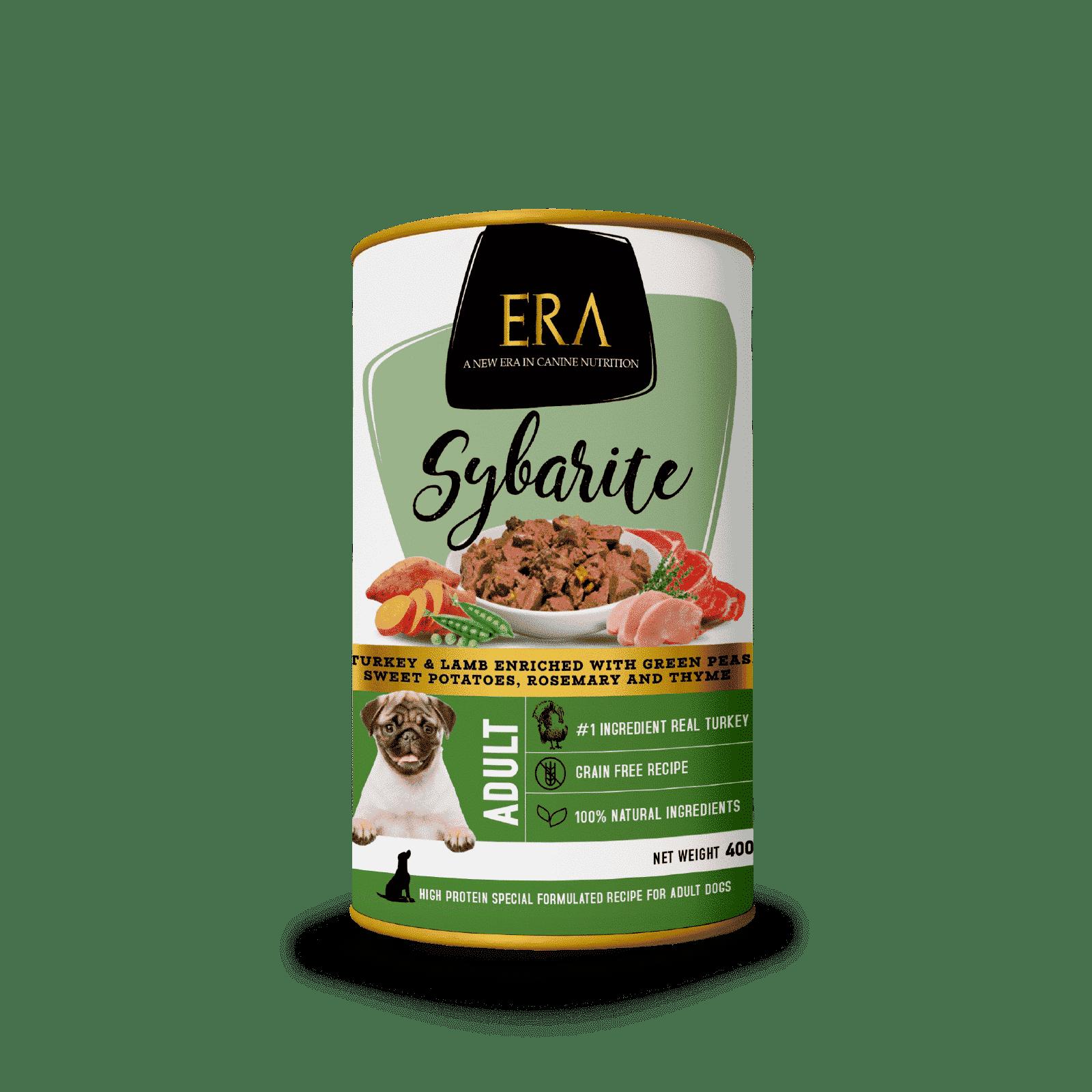 Alimentación húmeda para perros de Pavo y Cordero